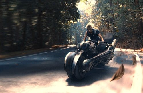 Cloud Strife and Fenrir - aka the coolest motorcycle EVER!!!