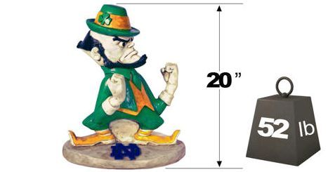 """Notre Dame """"Leprechaun"""" College Mascot 2787 By Henri Studio. can be purchased at http://apollostatuary.com/index.php?main_page=product_info&cPath=1_77&products_id=924"""
