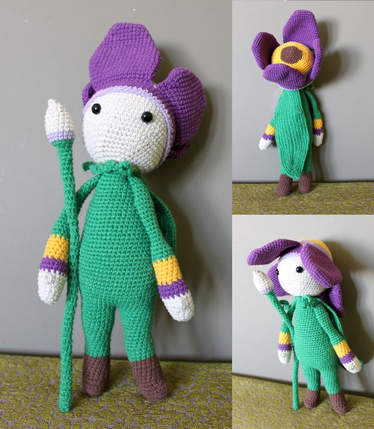 Zabbez Crochet Patterns : ... Tulip Theo flower doll made by Kasia S - crochet pattern by Zabbez
