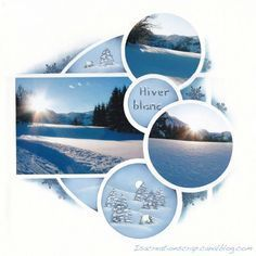 hiver_10 circle templates scrapbook layout