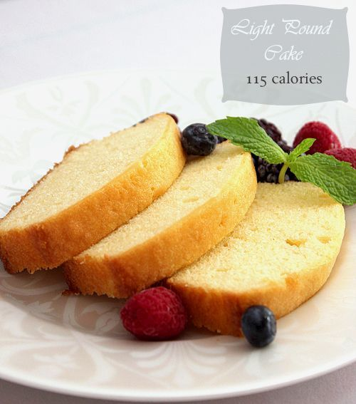 Reduced calorie cake recipes