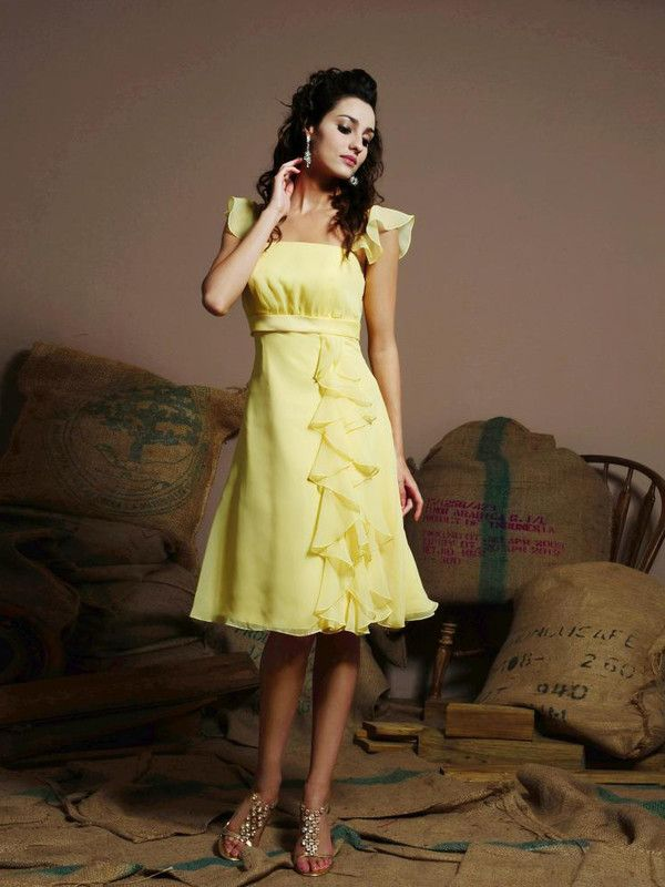 Yellow cocktail dresses canada