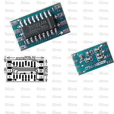 2Pcs RS232 To TTL MAX3232 Converter Adaptor Module Serial Port Board
