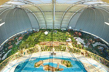 Tropical Islands in Germany near Berlin - one of the best water parks in Germany and fun place to visit with kids