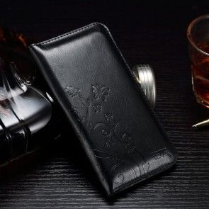 Husa  iPhone 6s Plus / iPhone 7 Plus, Tip portofel, Negru,ULTRASLIM ,Imprimeu Floral