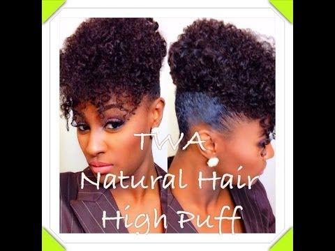 ▶ HIGHLY REQUESTED: TWA Natural Hair High Puff | SHLINDA1 - YouTube