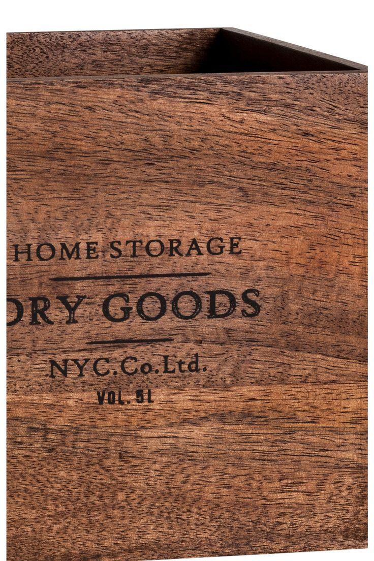 Malý dřevěný box - Tmavě hnědá - HOME | H&M CZ