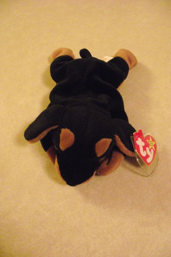 Ty Retired Original Vintage 1996 Beanie Baby Doby Doberman Pincher Dog  Lover Tag  Ty d486c2a10fa
