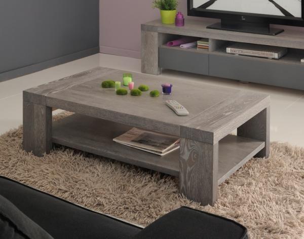 contemporary coffee table in grey oak veneer