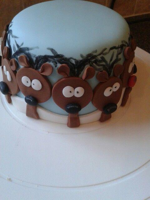 Surprised Reindeer cake...