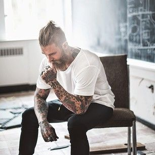 And a topknot + beard is a thing of beauty. | 27 Beautiful Topknots That Will Move You To Tears