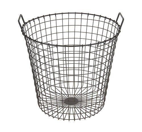 Metal Wire Round Garden Home Storage Log Basket Bin