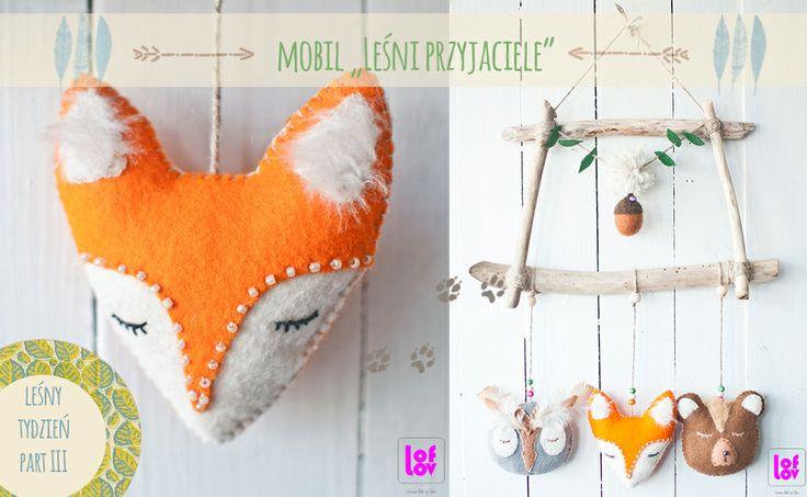 "Mobile ""Forest friends""  #felt #mobile #kids #fox #owl #woodland #bear www.facebook.com/loflov"