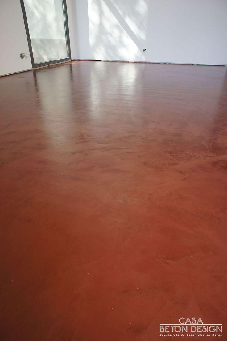 B ton taloch terre cuite sur plancher chauffant beton cir taloch pinte - Beton cire sur plancher chauffant ...