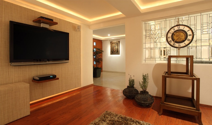 Dise o de muebles para la sala de tele residencia - Diseno de muebles de sala ...