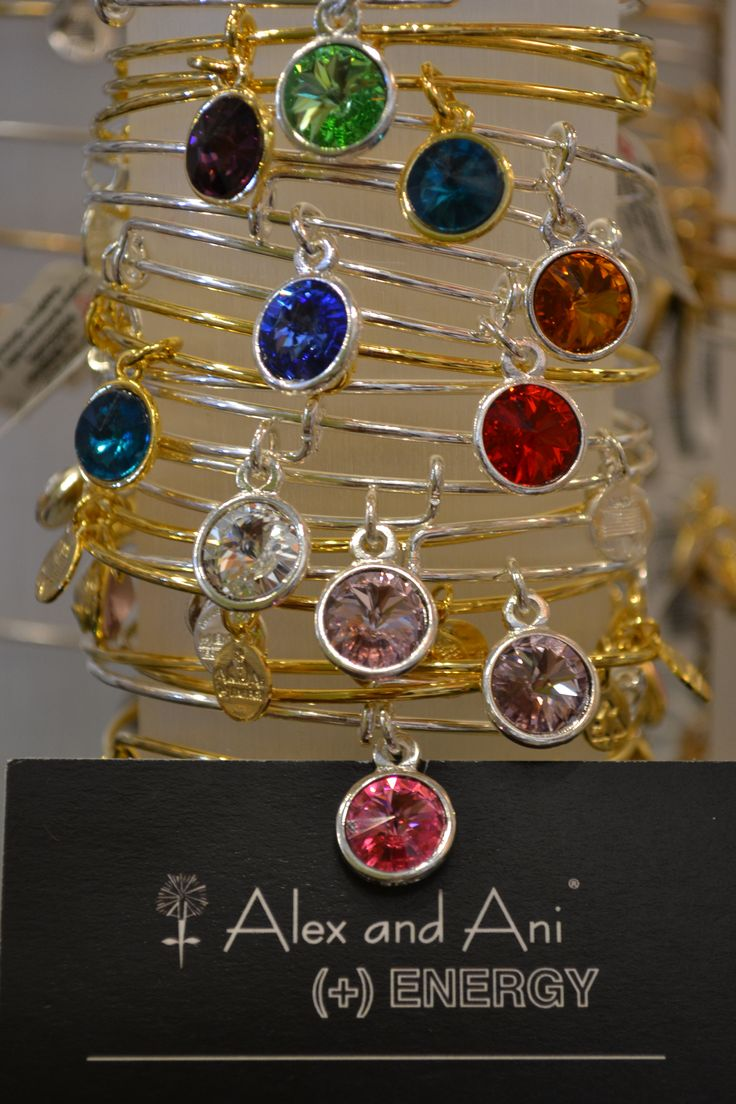 Alex and Ani birthstone collection|| Hubby bought me our birthstones