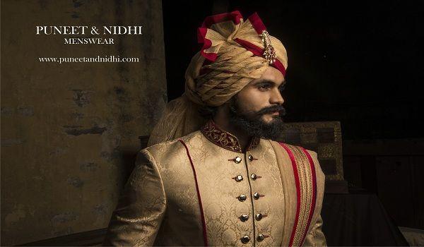 Puneet & Nidhi offfers Classy & Traditional Wedding Sherwani, Men's Suit, Achkan, Bandhgalas in Noida, Delhi & California https://goo.gl/b2Ti9Z