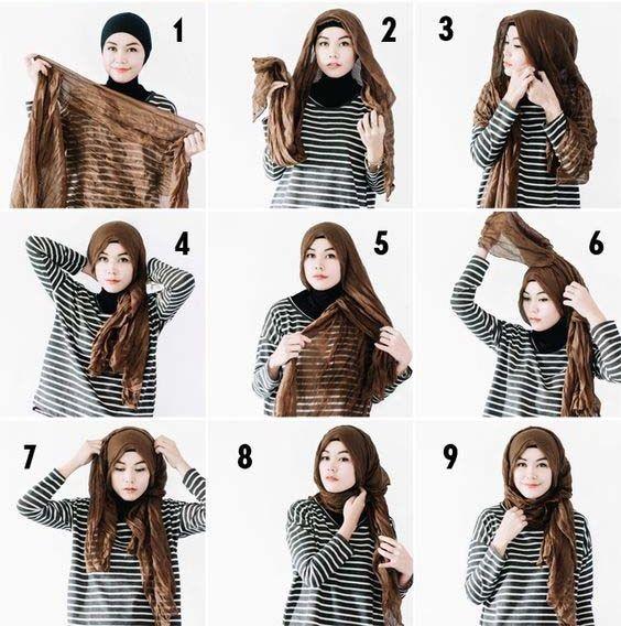 Simple and Quick Hijab Style Tutorialhijab tutorial