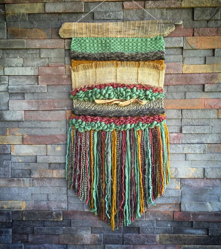 Woven wall hanging by Telaresyflecos on Etsy https://www.etsy.com/listing/285932409/woven-wall-hanging