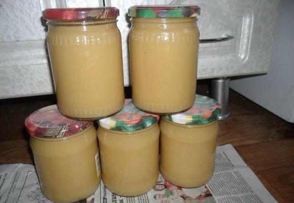 яблочное пюре со сгущенкой на зиму
