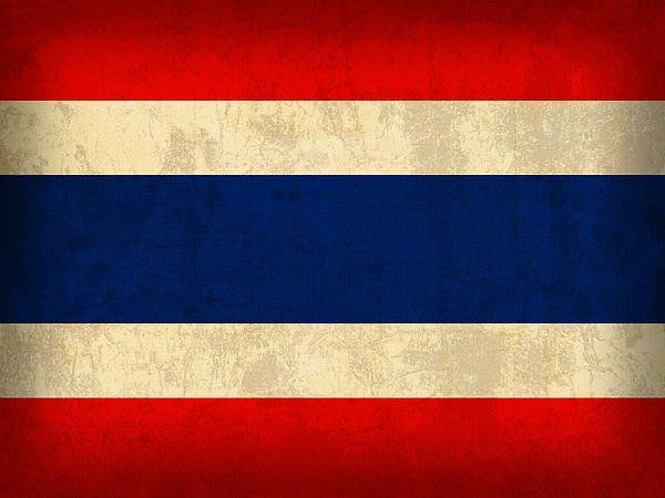 Thailand Flag Vintage Distressed Finish Print By Design Turnpike