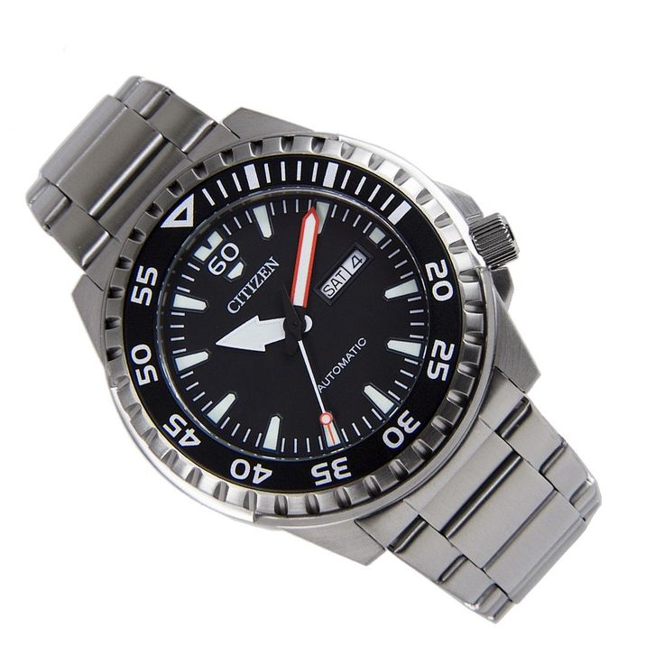 Sports Watch Store - Citizen NH8388-81E Analog Marine Silver Stainless Steel Bracelet WR100m Gents Watch, $176.00 (https://www.sports-watch-store.com/copy-of-citizen-nh8389-88l-analog-marine-mens-luminous-hands-markers-sports-watch/)