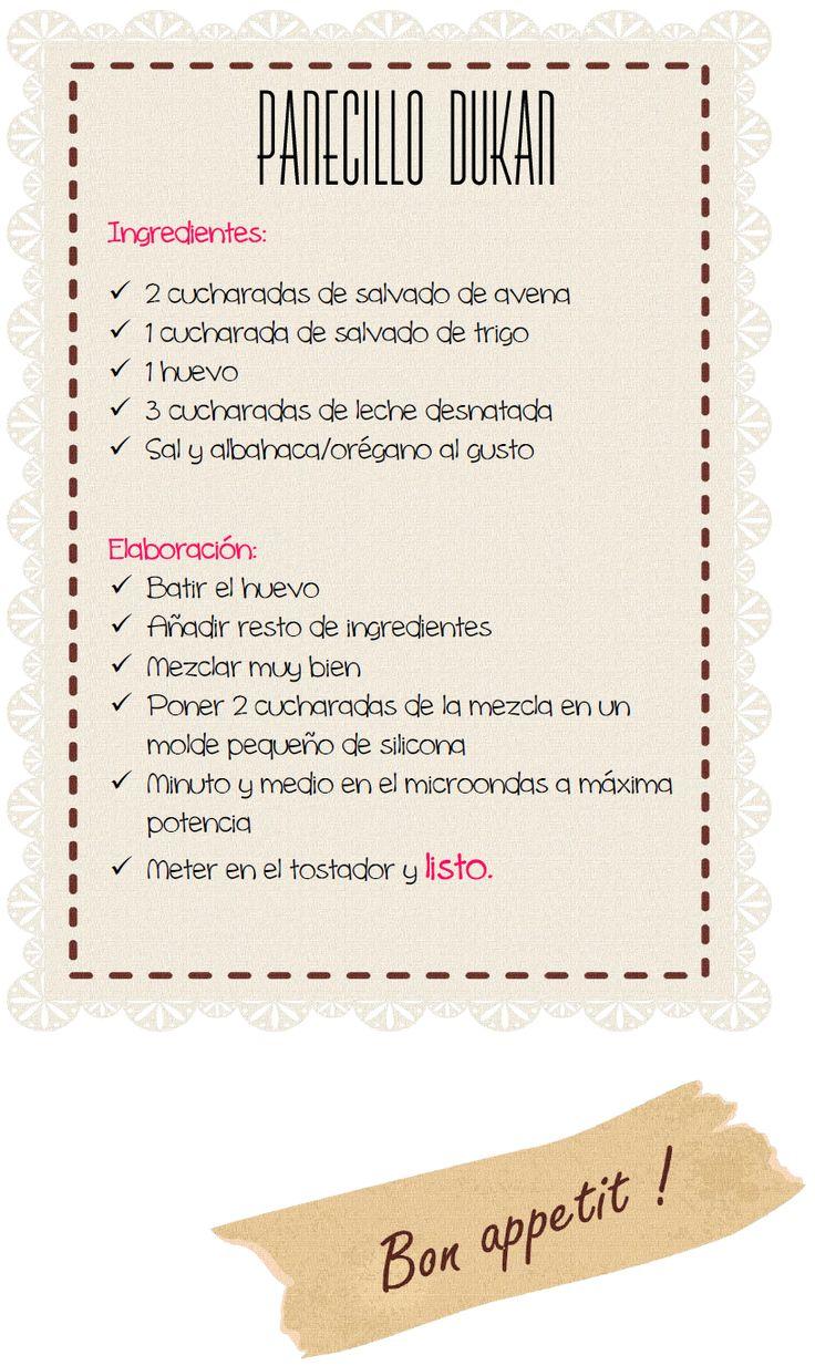 ¿Tú eres Pitipín?: ☼ «Lunes de receta Dukan»: Panecillo Dukan (Fase Ataque)