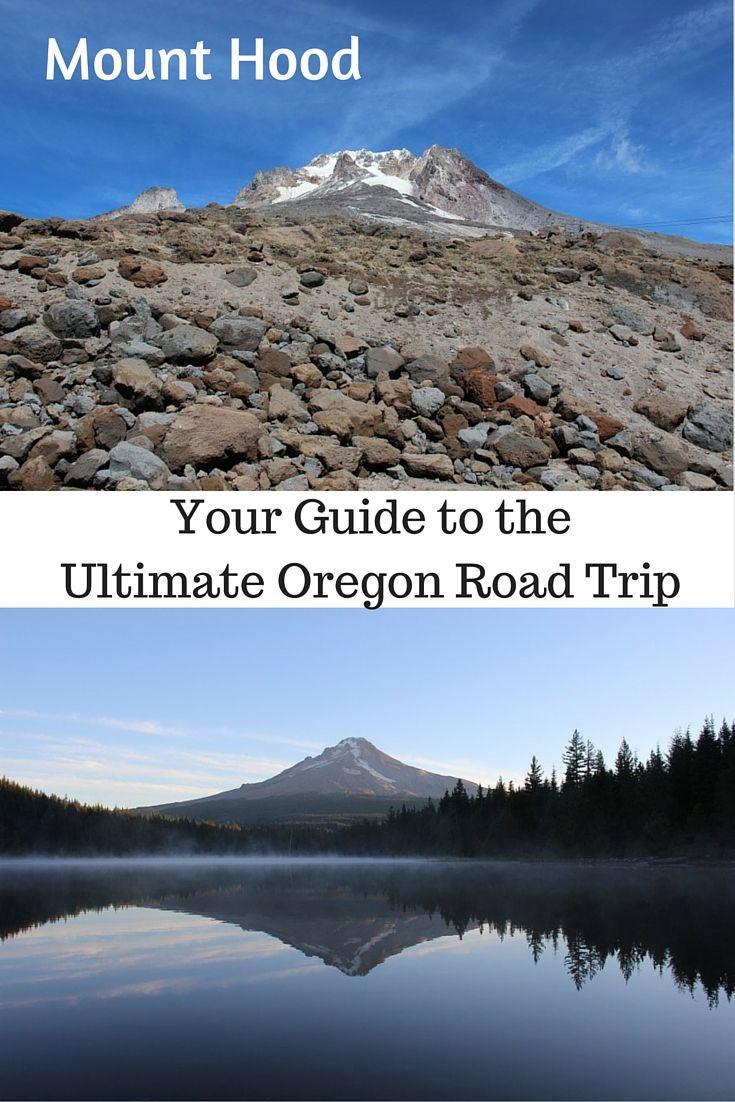 Mount Hood and Trillium Lake Oregon UsaOregon
