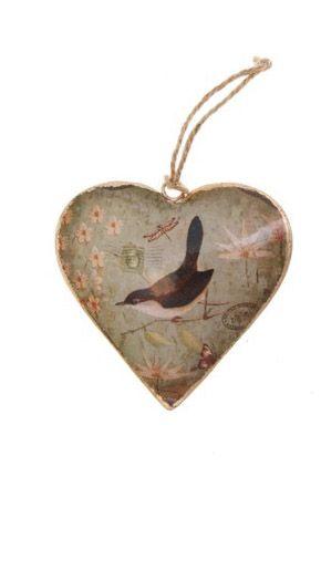 Bird Heart Hanging Ornament #bird #heart #home