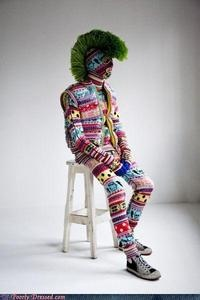 Cozy Suit! Even his face is nice and cozy!!!: Hats, Crochet, Colors, Mohawks, Fashion Fails, Martha Stewart, Yarns Bombs, I'M, Guys