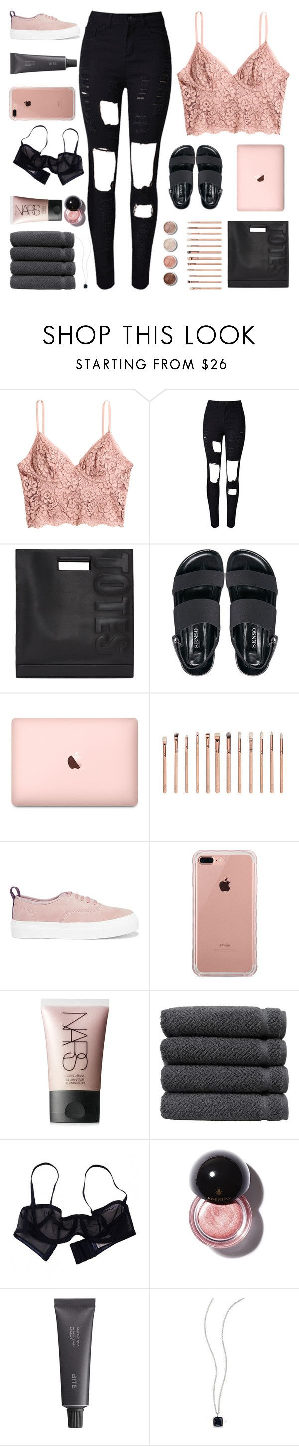 """""""LORD SAVE ME, MY DRUG IS MY BABY"""" by s-erene ❤ liked on Polyvore featuring H&M, WithChic, 3.1 Phillip Lim, Senso, ZOEVA, Terre Mère, Eytys, Belkin, NARS Cosmetics and Linum Home Textiles"""