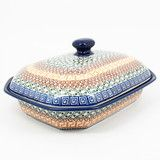 Polish Pottery Covered Baking Dish #050 | Polish Kitchen Online