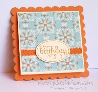 Julie's Stamping Spot -- Stampin' Up! Project Ideas Posted Daily: Scallop Square Cards with Perfect Punches
