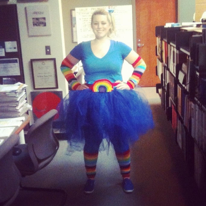 My version of Rainbow Brite for costume contest. The tutu turned out to be a hit!
