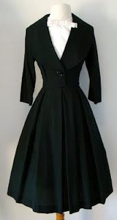 1950's dress: Style, 1950S, Vintage Dresses, Vintage Fashion, Closet, Black Dress, Wear, Coat, Vintage Clothing