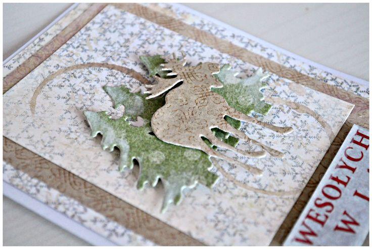 Kochani, Nie jest to świąteczny debiut na Naszym blogu 🙂 W tym pościeMosia pokazała piękną karteczkę w stylu vintage. Ja przygotoałam dla Was prostą kartkę z reniferkiem i choineczkami. W roli głównej wystąpiły papiery UHK Gallery, które znajdziecie na naszych...