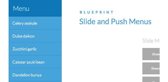 CSS - Responsive Multi-Levels Drop-Down Icon Menu - 15 Stupefying - best of blueprint css menu
