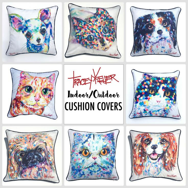 Tracey Keller Indoor/Outdoor Dog and Cat Cushion Covers