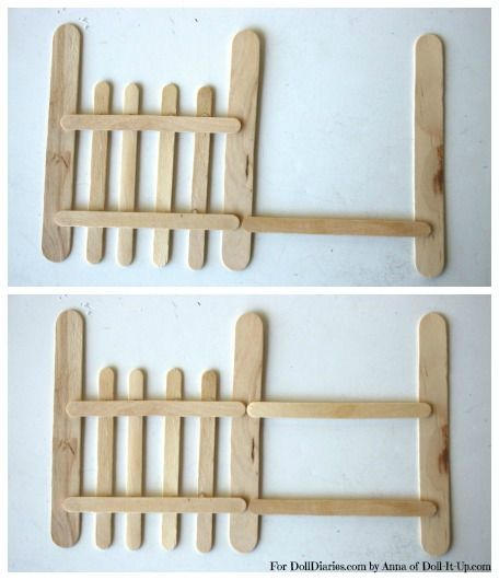 Popsicle stick fence idea ... make rustic for ice fishing area