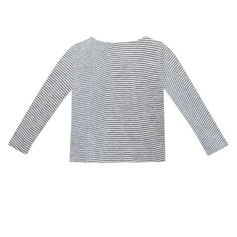 Navy micro stripe long sleeved tee