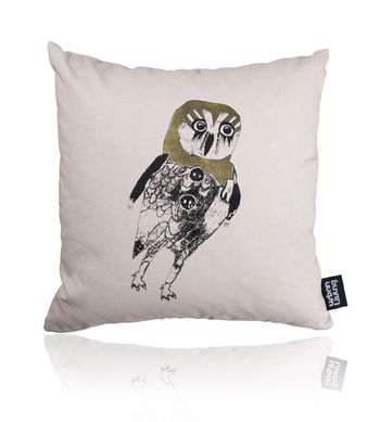 shy owl pillow - shy owl pillow by monika petersen for sale online.