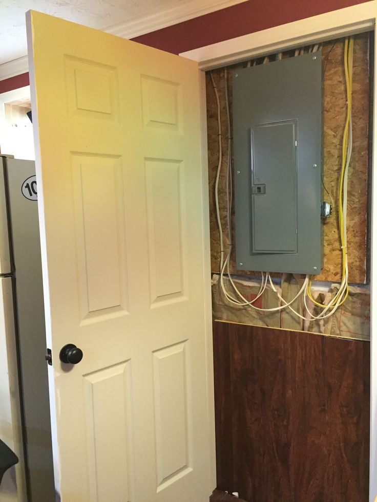 Clever And Easy Way To Hide The Electrical Panel Add A