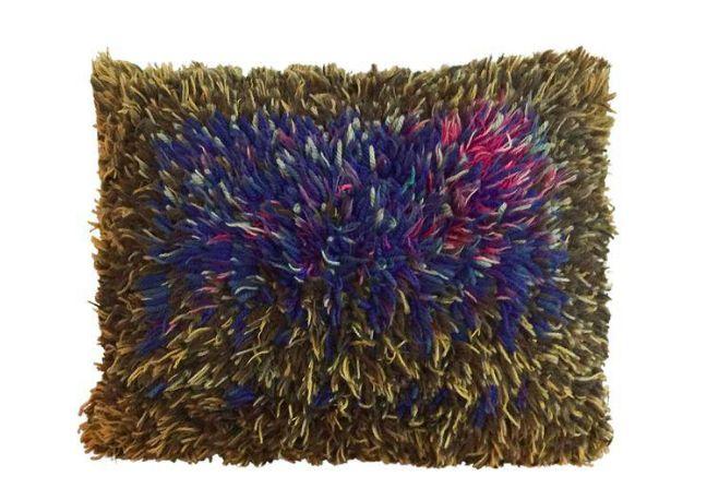 Mid Century Handmade Scandinavian Throw, Floor Pillow