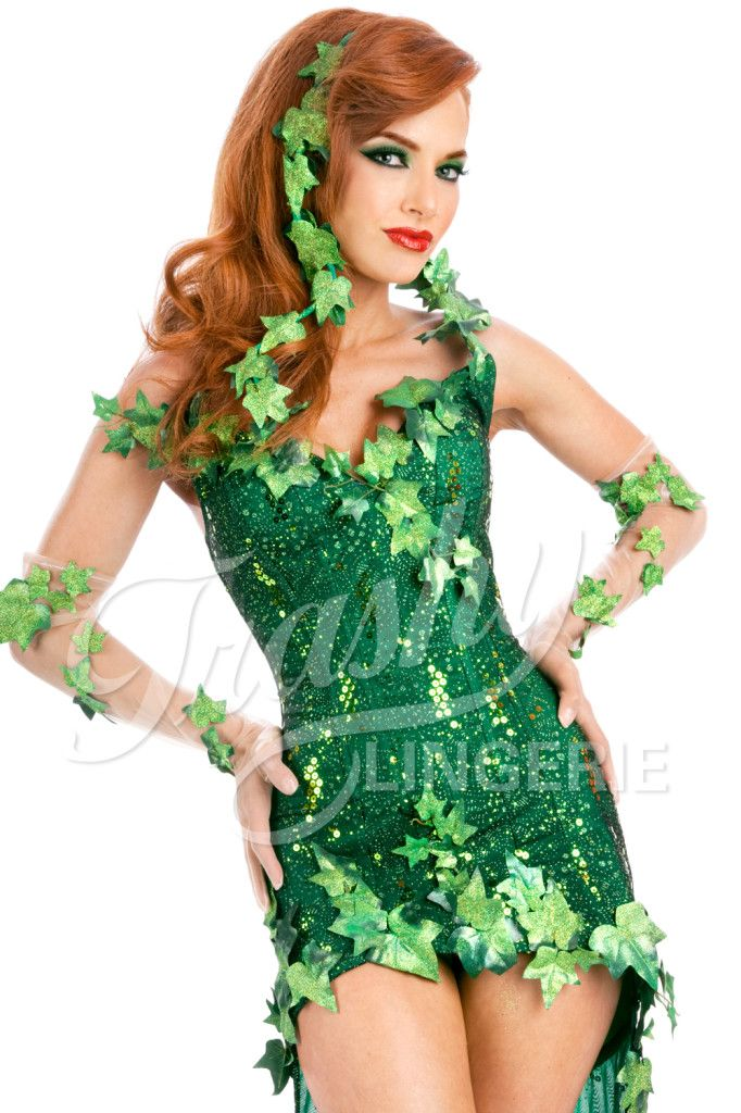 Poison Ivy Costume (would wear leggings, obviously)-- just in case our group does a Batman villain costume set =)
