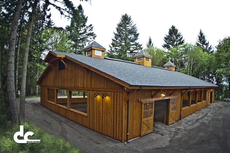All Wood Custom Covered Riding Arena
