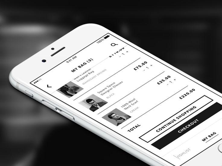 Fashion App - My Bag UI