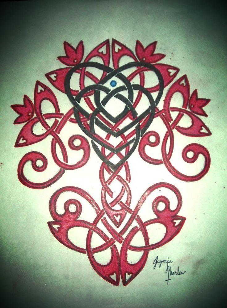 Motherhood Knot over Celtic Tree of Life by CreatureFeature17.deviantart.com on @deviantART