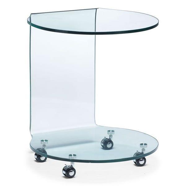 Corwin Bent Glass Side Table