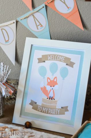 Woodland friends birthday party ideas! First birthday party ideas for a little boy too! http://fantabulosity.com
