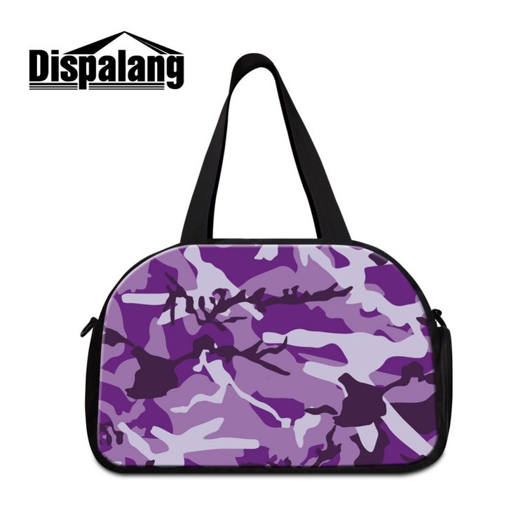 Dispalang Mens Travel Luggage Bags Camo Print Large Capacity Womens Casual Handbag Men Weekend Shoulder Bag Overnight